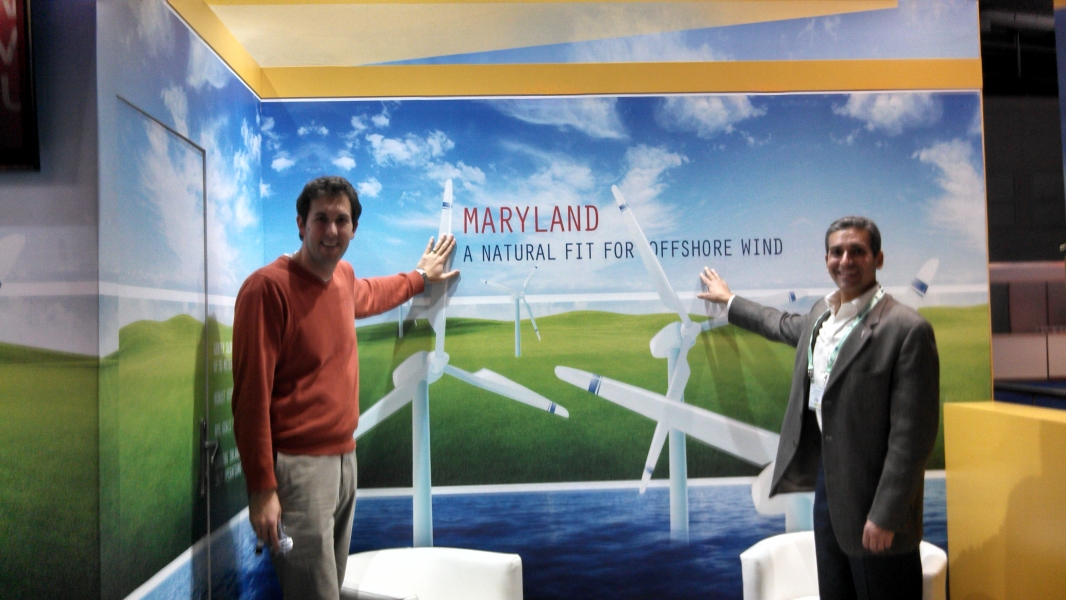Ben at Int'l Wind Farm conference