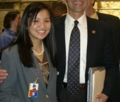 Ben with constituent in Annapolis